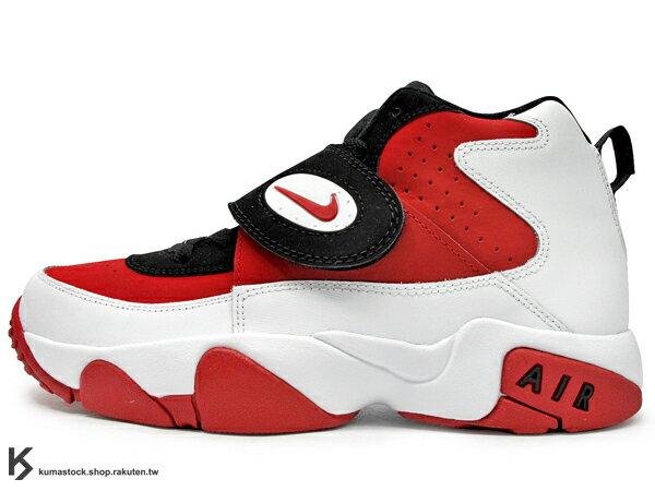 [25cm] 台灣未發售 2014 經典復刻 NIKE AIR MISSION GS 大童鞋 女鞋 白紅 白紅黑 橄欖球鞋 G-DRAGON GD 韓國藝人愛用 多功能鞋 (630911-100) !