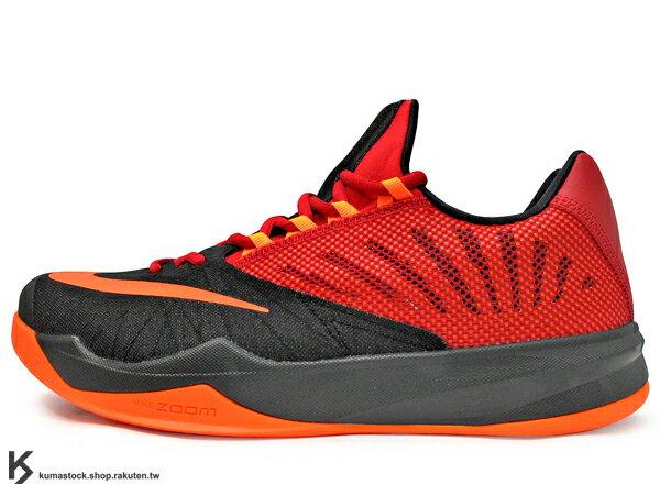 2014 NBA 休士頓 火箭隊 大鬍子 James Harden 最新代言鞋款 NIKE ZOOM RUN THE ONE 低筒 黑紅橘 襪套式內靴 HYPERFUSE 鞋面科技 前 ZOOM AIR 氣墊 監視器 (653636-680) !