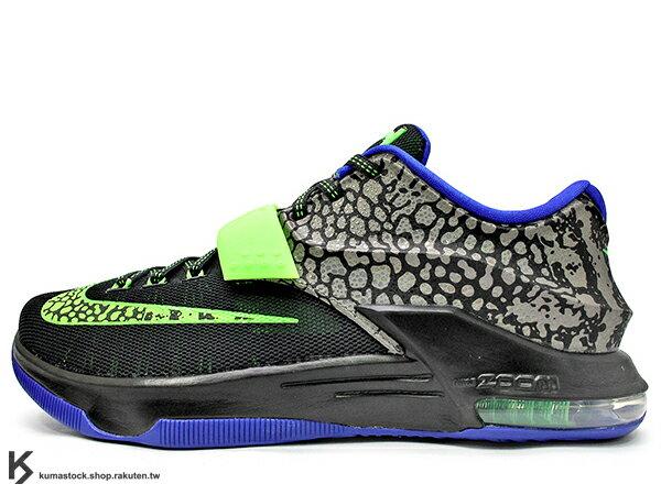 2015 NBA 年度 MVP 得分王 雷帝 最新代言鞋款 NIKE KD VII 7 EP ELECTRIC EEL 黑灰 螢光綠藍 電鰻 DYNAMIC FLYWIRE + HYPERPOSITE 鞋面科技 ZOOM MAX AIR 氣墊 Kevin Durant 代言簽名鞋款 (653997-030) !