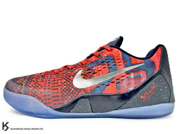 2014 NBA 湖人球星 最新代言鞋款 限量發售 ENGINEERED MESH 鞋面科技 NIKE KOBE 9 IX EM PREMIUM PHILIPPINES LASER CRIMSON 低筒 男鞋 紅 民族風圖騰 菲律賓 人字拖 透明底 九代 Kobe Bryant 籃球鞋 (669630-604) !