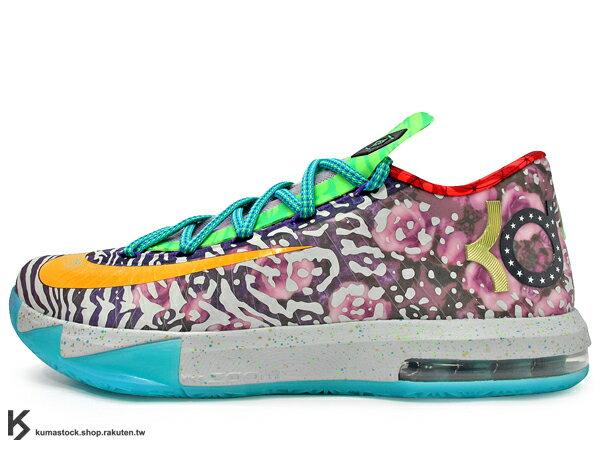<br/><br/> [28.5cm] 2014 NBA 得分王 最新代言鞋款 NIKE KD VI 6 PREMIUM WHAT THE KD 眾神合體 合體 花朵 珍珠 左右腳不同色 HYPERFUSE 鞋面科技 ZOOM MAX AIR 氣墊 Kevin Durant 代言簽名鞋款 (669809-500) !<br/><br/>