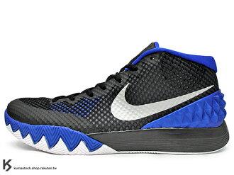 [31cm] 2015 NBA 新人王 Kyrie Irving 首款個人簽名代言籃球鞋 NIKE KYRIE 1 BROTHERHOOD DUKE 黑藍 黑藍白 杜克 兄弟 限量販售 美國版 (70..