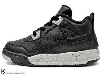 [16cm] 海外入荷 台灣未發售 2015 NIKE JORDAN 4 IV RETRO LS BT TD TECH GREY OREO 幼童鞋 BABY 鞋 黑灰 皮革 奧利奧 AJ 四代 AIR..