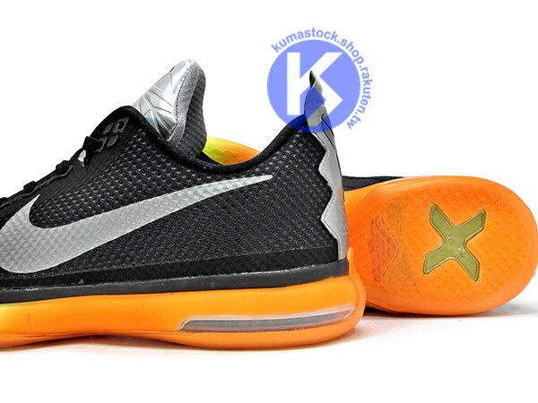2015 NBA 湖人球星 小飛俠 最新代言鞋款 FREE + ZOOM AIR 混合緩震科技 NIKE KOBE X 10 AS ALL STAR ALL-STAR 明星賽 黑銀橘 十代 Kobe Bryant 籃球鞋 無接縫鞋面 超強抓地力外底 (742546-097) ! 2