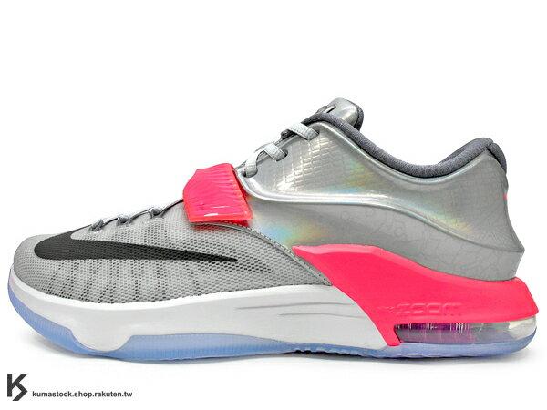 2015 限量發售 NBA ALL-STAR 明星賽 限定款式 NIKE KD VII 7 AS EP ALL STAR 銀桃紅 布魯克林大橋 DYNAMIC FLYWIRE + HYPERPOSITE 鞋面科技 ZOOM MAX AIR 氣墊 NBA 年度 MVP 得分王 雷帝 Kevin Durant 最新代言鞋款 (744920-090) !
