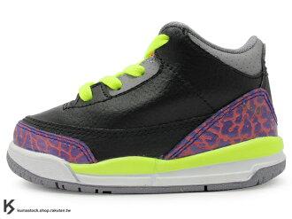 海外入荷 台灣未發售 2013 NIKE JORDAN 3 III RETRO TD BT JOKER 幼童鞋 BABY 鞋 黑紫橘 螢光黃 爆裂紋 AJ 三代 AIR (832033-039) !