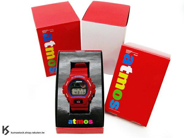 聯名款 2011 限量發售 日本 CASIO x atmos G-SHOCK DW-6900 第五彈 紅色 紅藍 日本製 DW-6900FS-4 !