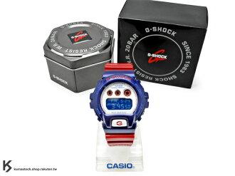 kumastock 最新入荷 2013 30 周年限定機型 CASIO G-SHOCK BLUE AND RED SERIES 系列 DW-6900AC-2DR 藍白紅 鋼鐵愛國者 鋼鐵人亮面錶帶 N..