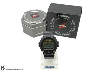 kumastock 最新入荷 2013 春夏 繽紛 街頭流行風格 CASIO G-SHOCK NEW CRAZY COLOR 系列 DW-6900PL-1DR 黑金 金色金屬錶面 霧面錶帶 !