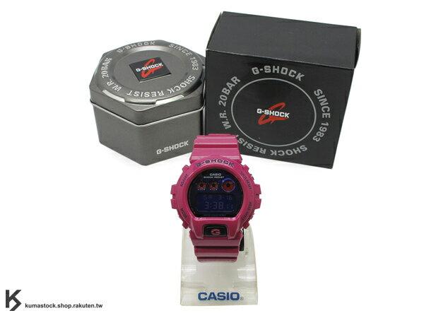 kumastock 最新入荷 2013 春夏 繽紛 街頭流行風格 CASIO G-SHOCK NEW CRAZY COLOR 系列 DW-6900PL-4DR 桃紅 桃紫 紫色金屬錶面 亮面錶帶 !