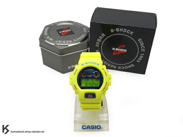 kumastock 最新入荷 2013 春夏 繽紛 街頭流行風格 CASIO G-SHOCK NEW CRAZY COLOR 系列 DW-6900PL-9DR 亮黃 黃 寶藍色金屬錶面 亮面錶帶 !