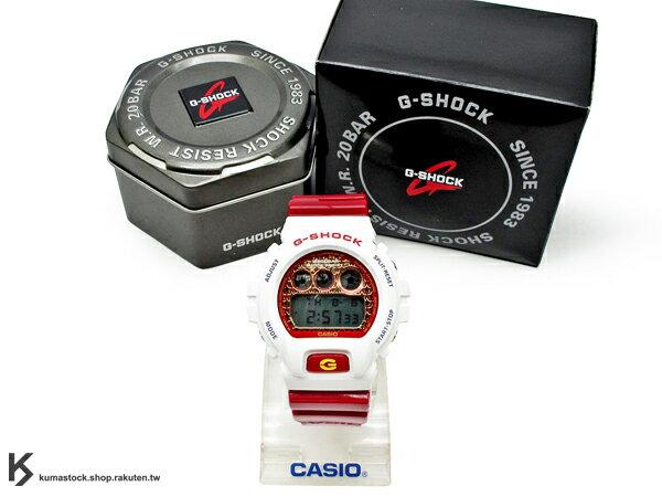 kumastock 最新入荷 2013 30 周年限定機型 CASIO G-SHOCK DW-6900SC-7DR 炫彩系列 白紅 星星錶面 雙色 撞色 亮面錶帶 NEW CRAZY COLOR !