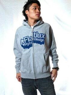 日本東京直送FLATLUX潮流品牌台灣總代理2008年Crackin'CrackZin帽T外套灰