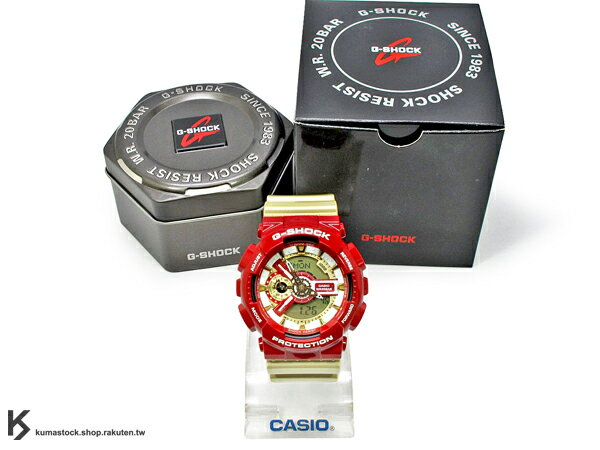 [10%OFF] kumastock 2014 最新入荷 超大 55mm 錶徑 CRAZY COLOR 全新運動風配色 CASIO G-SHOCK GA-110CS-4ADR 紅金 NBA 球隊 熱火 鋼鐵人 ! 男生聖誕交換禮物