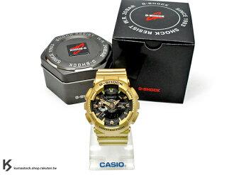 kumastock 2015 最新入荷 超大 55mm 錶徑 CRAZY GOLD 黑 x 金酷炫風潮來襲 CASIO G-SHOCK GA-110GD-9BDR 閃耀金 炫金系列 土豪金 !