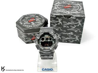 [10%OFF] kumastock 最新入荷 2014 30 周年限定機型 大錶徑 CASIO G-SHOCK G-SHOCK GD-120CM-8DR 灰色 叢林 迷彩 系列 霧面錶帶 !