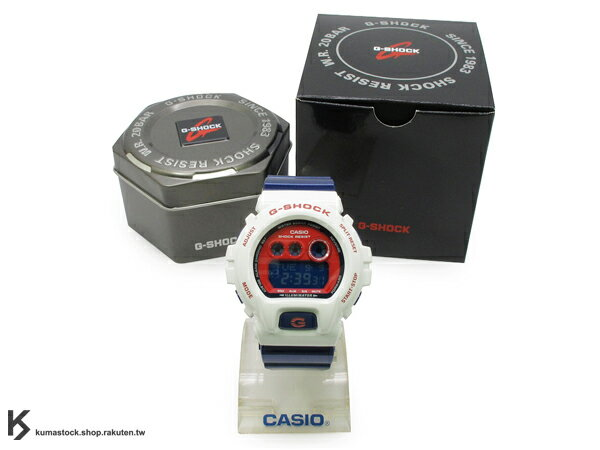 kumastock 2014 最新入荷 超大 53.9mm 錶徑 CRAZY COLOR 全新運動風配色 CASIO G-SHOCK GD-X6900CS-7DR 白藍紅 NBA 球隊 七六人隊 !