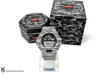 [10%OFF] kumastock 最新入荷 2014 30 周年限定機型 超大 53.9mm 錶徑 CASIO G-SHOCK GD-X6900TC-8DR TIGER CAMO 灰色 虎紋 迷彩..