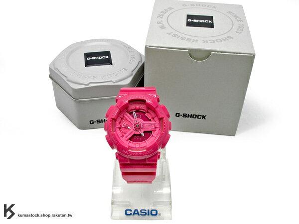 kumastock 2014 最新入荷 46mm 錶徑 貼合女性手腕曲線 CASIO G-SHOCK GMA-S110CC-4ADR 桃紅色 亮面 HYPER COLOR S SERIES FOR LADIES 女孩專用 !
