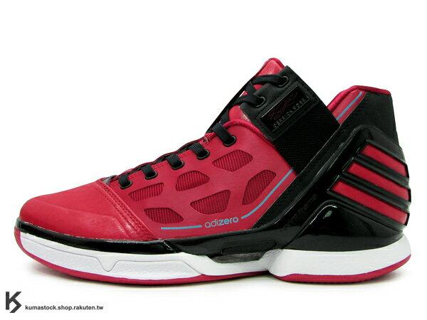 2012 最新款 限量發售 NBA 球星代言 ADIDAS ADIZERO ROSE 2 2.0 CHICAGO L-TRAIN X'MAS 全紅 紅黑 芝加哥 限定 耶誕節 Derrick Rose 代言 籃球鞋 (G47565)!