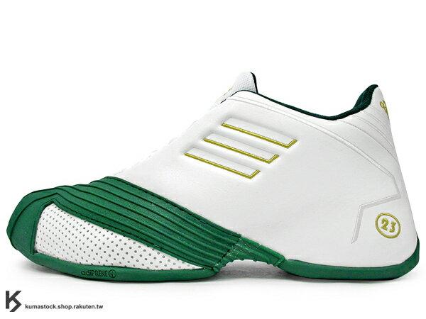 2014 最新入荷 回憶再現 2002年經典名作 復刻 美國紐約鞋舖 PACKER SHOES x adidas TMAC 1 FOR PLAYER ONLY SVSM 白綠金 LeBron James 高中 PE 配色 adiPrene+ 避震科技 TORSION SYSTEM 防扭中樞 T-MAC Tracy McGrady 代言 (G65986) !
