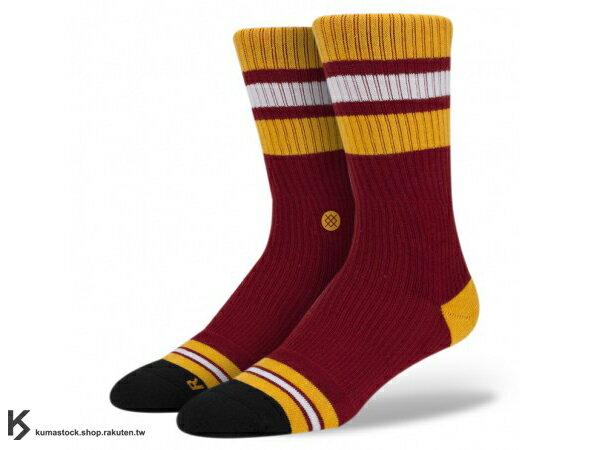 2013 美國加州 襪子 品牌 STANCE SOCKS x NBA 官方授權 NBA 復古 球隊系列 MIAMI HEAT 熱火 紅黃 中長筒襪 (M802AMIA) !