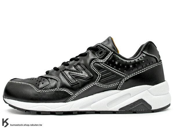 日本限定 限量發售 原宿潮流品牌 WHIZ LIMITED. x 上野鞋舖 mita sneakers x New Balance MRT580WM 三方共同提案企畫 黑色皮革 星星 下野宏明 進化輕量版 MT580 (MRT580WM) !