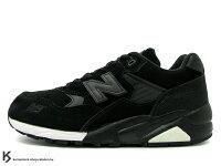 New Balance 美國慢跑鞋/跑步鞋推薦稀有在庫 NEW BALANCE x MITA SNEAKERS x real mad HECTIC MT580 BS 10代 10th 全黑色 麂皮 珍珠魚皮 魟魚皮 (MT580 BS) !