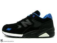 New Balance 美國慢跑鞋/跑步鞋推薦稀有在庫 NEW BALANCE x MITA SNEAKERS x real mad HECTIC MT580 NA 9代 9th 黑藍色 麂皮 珍珠魚皮 魟魚皮 (MT580 NA) !