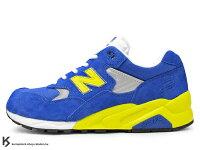 New Balance 美國慢跑鞋/跑步鞋推薦2010年 10周年紀念 限定款 NEW BALANCE x MITA SNEAKERS x real mad HECTIC MT580 NBX 藍色 藍黃 麂皮 !