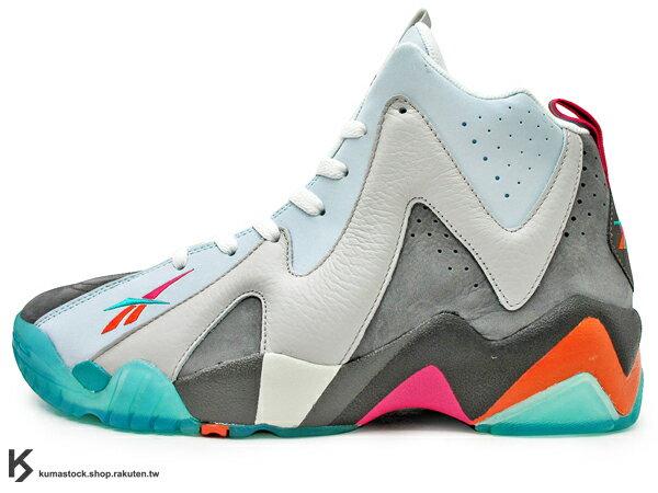2013 世界限量300雙 美國紐約鞋舖 PACKER SHOES x REEBOK KAMIKAZE II MID REMEMBER THE ALAMO 灰水藍 辣椒 神風 1996 ALL-STAR 全明星賽 配色 野獸灌籃王 Shawn Kemp 代言 籃球鞋 (V53621) !