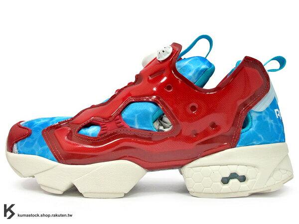 [30% OFF] 2014 原版設計再現 20周年紀念 限量發售 邁阿密 佛羅里達 知名鞋舖 Shoe Gallery x Reebok INSTA PUMP FURY OG 游泳池 紅藍 1994 原版中底設計 (V61541) !
