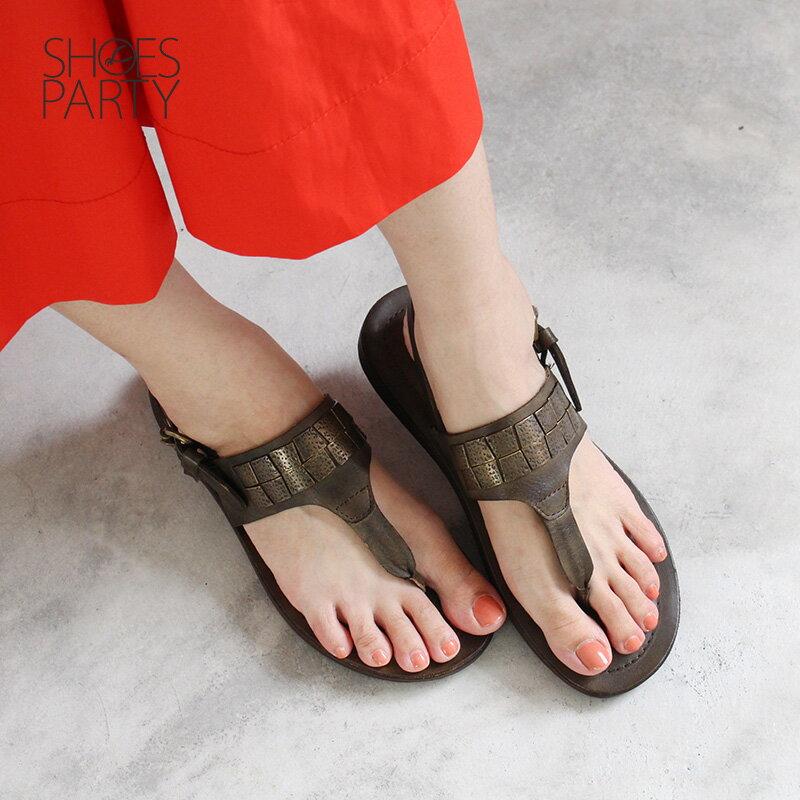 限量現貨【F2-18608L】世界系列-夾腳平底民俗風涼鞋_Shoes Party 0