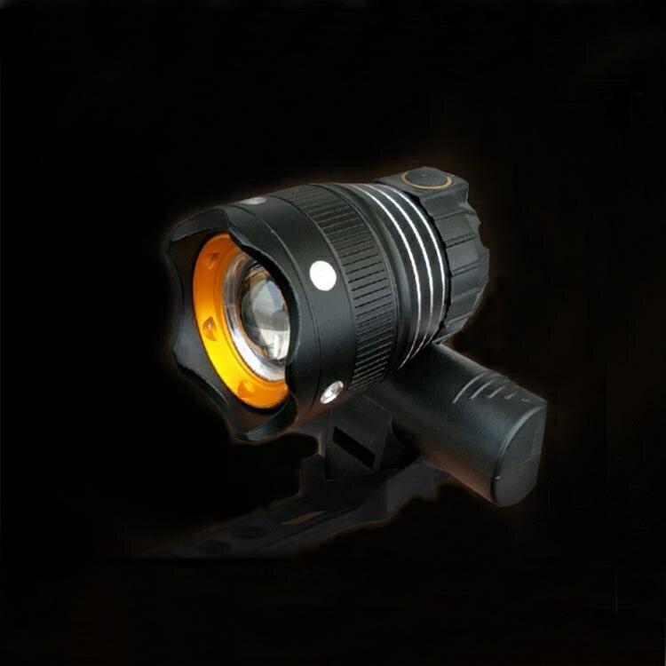 自行車USB燈高亮警示燈山地車前燈充電前燈配件300流明T6 【夏沐生活】