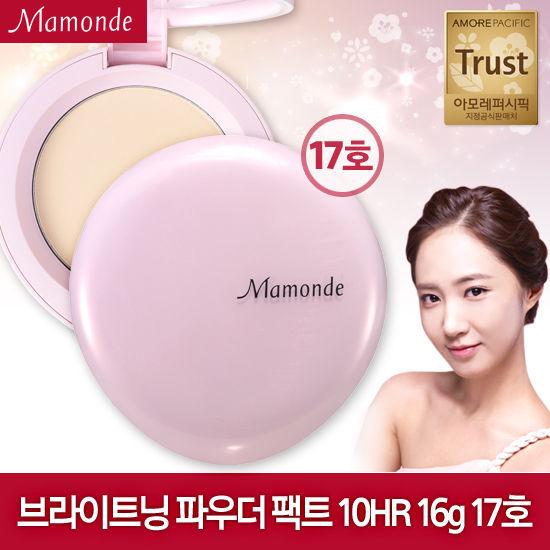 韓國 AMORE / MAMONDE『 10H長效水潤保濕蜜粉餅 』17號明亮膚色