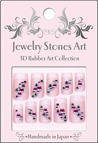 <br/><br/> 日本製 手工 指甲貼紙 JAA-02 『 3D Rubber Art Jewelry Stones 』造型貼紙/手機造型貼紙<br/><br/>