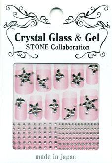 日本製/水晶指甲貼紙 PSS-09『 Crystal Glass & Gel -STONE』造型貼紙/手機造型貼紙