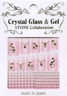 日本製/水晶指甲貼紙 PSS-04『 Crystal Glass & Gel -STONE』造型貼紙/手機造型貼紙