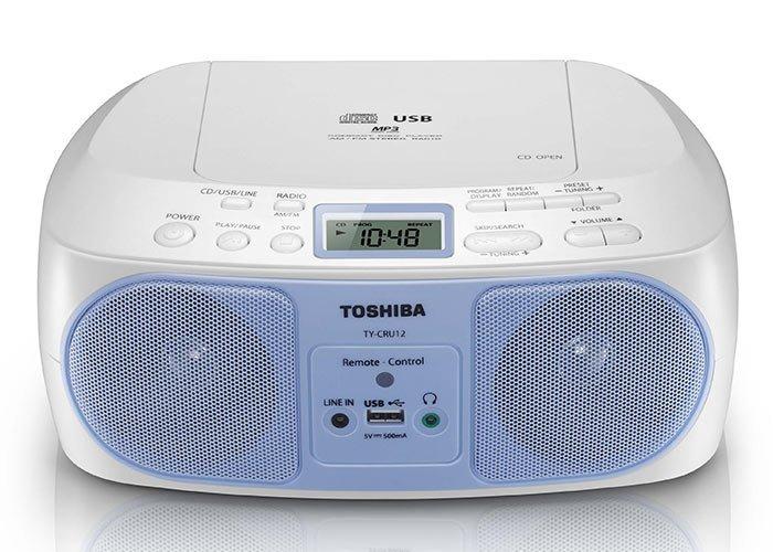TOSHIBA CD/MP3/FM收音機/USB 手提音響 TY-CRU12TW