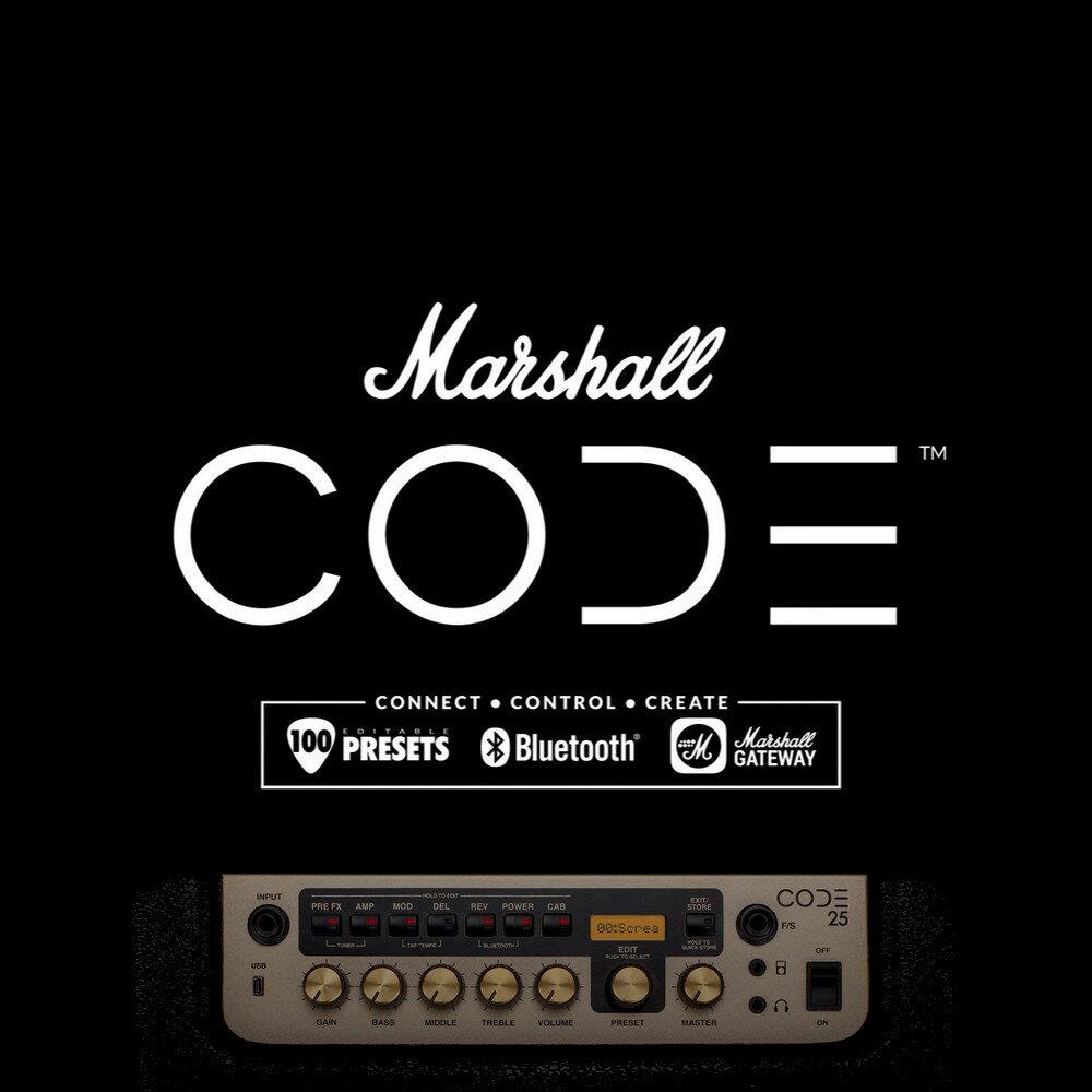 【非凡樂器】Marshall 〈CODE 25瓦 〉數位音箱】一次擁有50年經典聲響