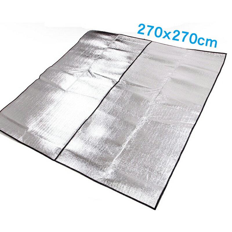 【露營趣】中和安坑 TNR-136 270x270 雙面鋁箔墊 帳篷270/280適用 鋁箔墊 防潮墊 露營墊 野餐墊 地墊 睡墊