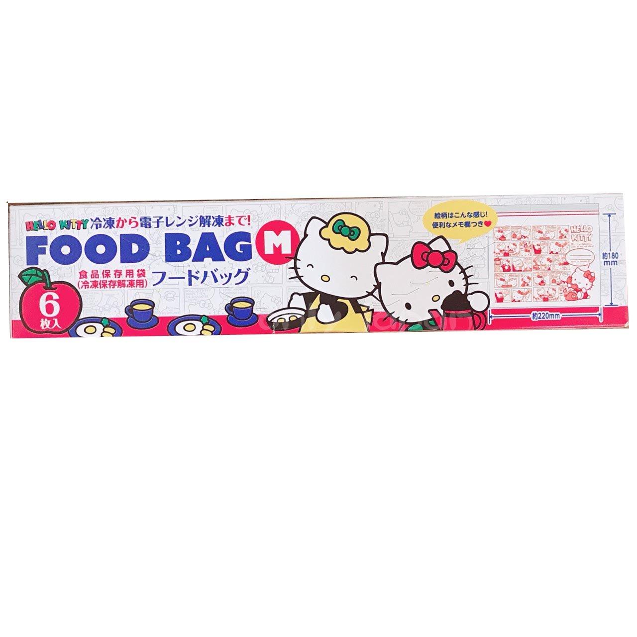 【真愛日本】18042200001 冷凍解凍保存袋M-6入KT草莓 三麗鷗 kitty 凱蒂貓 冷凍袋 日本帶回