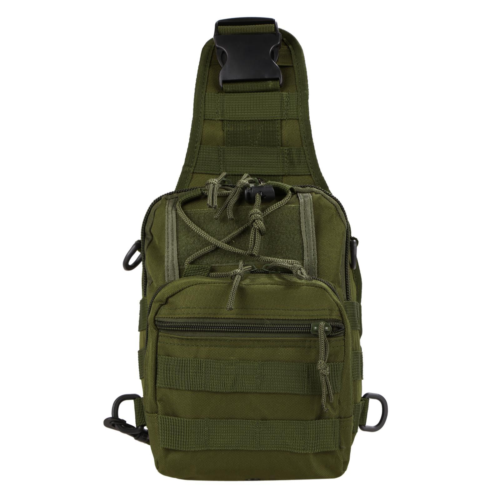Canvas Multifunction Outdoor Casual Chest Pack Shoulder Bag 0