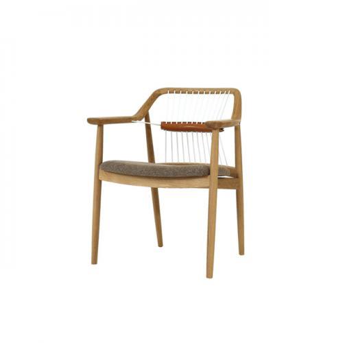 【MUKU工房】 北海道 旭川 家具 匠工藝 無垢 yamanami YC1 綁繩餐椅 (原木  /  實木) 0
