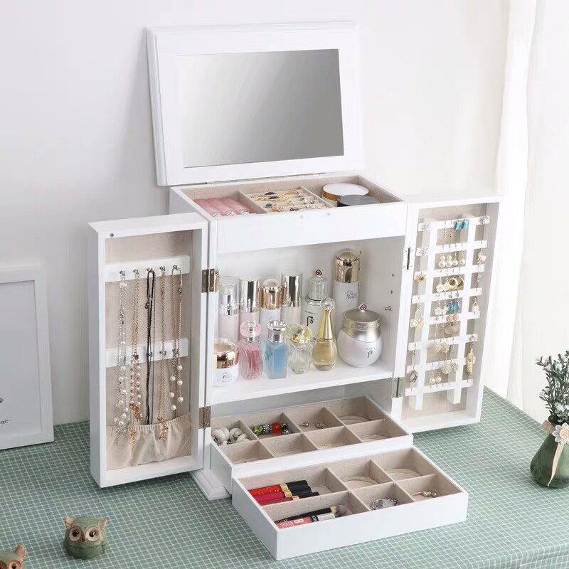!新生活家具!《西亞》白色 首飾盒 珠寶盒 飾品盒 收納 鏡子 鏡櫃 古典 歐式 禮物