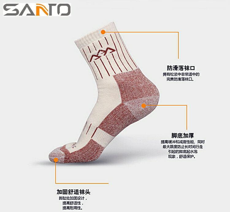 又敗家~ Santo中筒襪保暖 襪S015 超厚 比加厚還要厚0.5mm 含萊卡杜邦COO