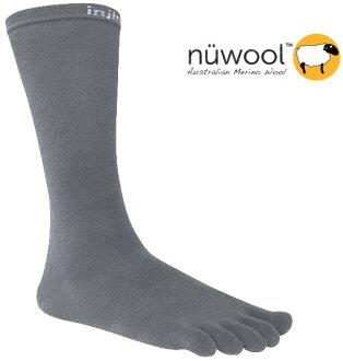 Injinji 五指襪/登山內襪/戶外羊毛五趾中筒襪/健行/五趾襪 Performance Liner NuWool 深灰