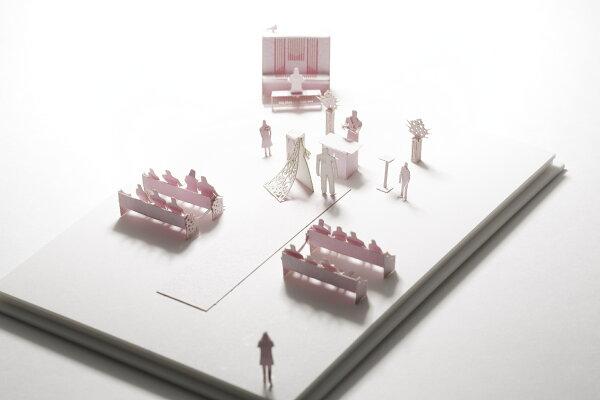 【寺田模型】建築紙模型婚禮求婚手作DIY交換禮物
