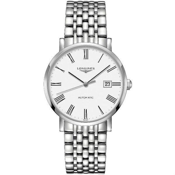LONGINES浪琴表L49104116琴韻羅馬優雅腕錶白面39mm