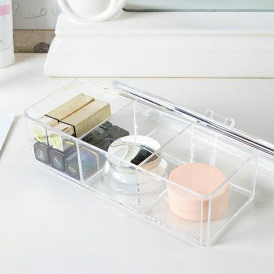 ♚MYCOLOR♚無印風格系列-透明化妝品收納盒壓克力桌面收納整理盒首飾棉花棒【P276】